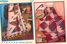 Patons Canadiana Afghans: Indian Inspired