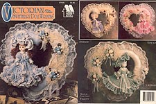 Annie's Attic Victorian Sweetheart Doll Wreaths -- for 11-1/2 inch porcelain-look little girl dolls