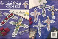 Annie's Attic Crochet Lacy Floral Crosses
