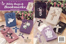 Annie's Attic Crochet Bible Bags & Bookmarks