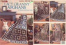 LA Lacy Granny Afghans in Planned and Scrap Colors