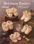 Heirloom Baby Booties, worked in size 10 bedspread cotton