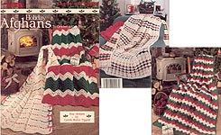 Leisure Arts Holiday Afghans to Crochet in One Piece