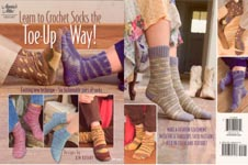 Annie's Attic Learn to Crochet Socks the Toe- Up Way!