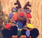 Crochet Village Roebuck the Reindeer