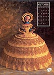 Annies Calendar Bed Doll Society, Collector Series, Miss October 1991.