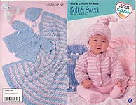 Red Heart Book No. 136: Soft & Sweet Knit & Crochet for Baby
