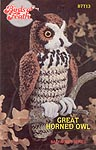 Annie's Attic Birds of a Feather -- Great Horned Owl