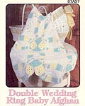 Annie's Attic Double Wedding Ring Baby Afghan