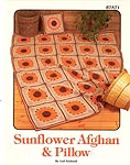 Annie's Attic Sunflower Afghan & Pillow