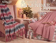 The Needlecraft Shop Afghan Calendar 1990
