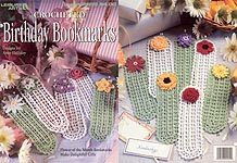 LA Crocheted Birthday Bookmarks