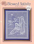 ASN White Christmas Collection: Blessed Nativity in Filet Crochet