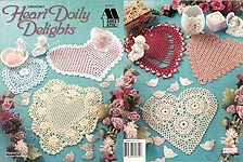 Annie's Attic Crochet Heart Doily Delights