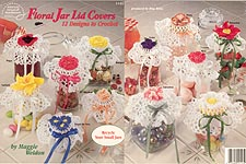ASN Crochet Floral Jar Lid Covers