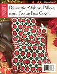 Herrschners Poinsettia Afghan, Pillow, and Tissue Box Cover