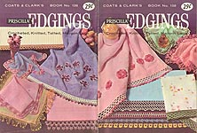 Coats & Clark's Book No. 138: Priscilla Edgings - Crocheted, Knitted, Tatted, Hairpin Lace