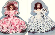 The California Doll Bride and Bridesmaid