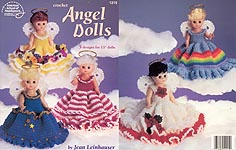 Crochet Angel Dolls outfits for 13-inch dolls