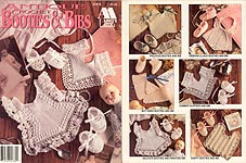 Annie's Attic Crochet Antique Booties & Bibs