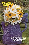 Annie's Attic Pillow Patch: Coffee Pot Bouquet