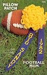 Annie's Attic Pillow Patch: Football Mum