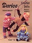 Darice Crochet Dolls: Mickey Monkey, Troublemaker, Penny Pig