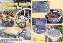 HWB Crochet Denim & Daisies Kitchen Set