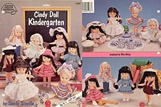 "Cindy Doll Kindergarten book features eight outfits for 6.5"" craft doll and may also fit the mini Am Girls - type dolls"