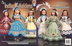 Annie's Attic Indian Maidens for 15 inch craft dolls