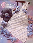 Annie's Crochet Quilt & Afghan Club Baby Blue Stripes