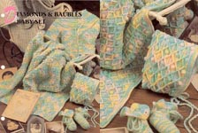 Annie's Crochet Quilt & Afghan Club, Diamonds & Baubles Baby Set