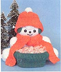 Mary Maxim Crochet Snowman Candy Holder