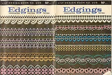 Lily Crochet Design Book No. 205: Edgings: Crocheted, Knitted, Tatted