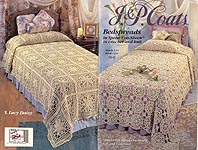 J & P Coats Book 1424: Bedspreads in Spped Cro-Cheen to Knit and Crochet