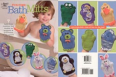 Annie's Attic Fun-Time Bath Mitts