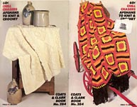 Coats & Clark's Book #284: Chill Chasers Afghans To Knit and Crochet