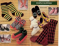 Annies Attic Simple Slippers