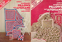 LA Ombre Needlepoint Pillows and Afghans to Knit and Crochet