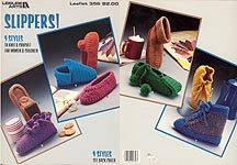 Leisure Arts Slippers to knit and crochet
