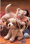 Playful Pets crocheted puppy and kitten