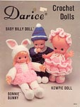 Darice Crochet Dolls: Baby Billy, Bonnie Bunny, and Kewpie
