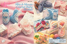 Annie's Attic Mile-A-Minute Crochet Baby Booties