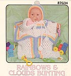 Annies Attic Rainbows & Clouds Bunting