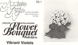 Annie's Attic Flower Bouquet Pot Holders: Vibrant Violets