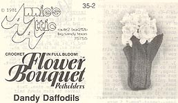 Annie's Attic Flower Bouquet Pot Holders: Dandy Daffodils