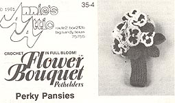 Annie's Attic Flower Bouquet Pot Holders: Perky Pansies