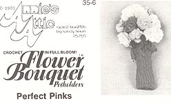 Annie's Attic Flower Bouquet Pot Holders: Perfect Pinks