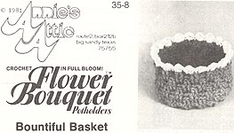 Annie's Attic Flower Bouquet Pot Holders: Bountiful Basket