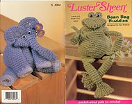 Coats & Clark Book 1442: Luster Sheen Bean Bag Buddies